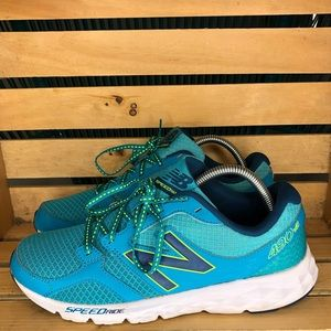 NEW BALANCE 490V3 TEAL BLUE SNEAKERS TRAIL
